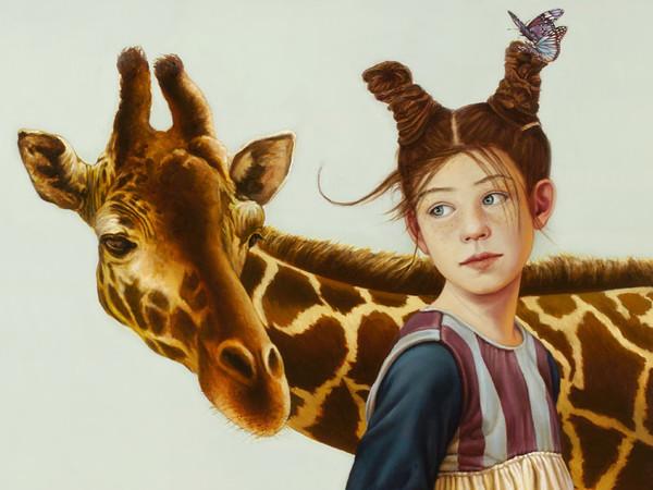 Claudia Giraudo,<span>Bimba con giraffa, 2018. O</span><span>lio su tela di lino,</span><span>cm. 70x70</span><br /><span><br /></span>