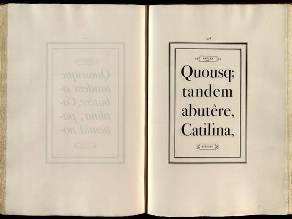 Carattere in corpo Papale che si trova pagina 143 del primo volume del Manuale tipografico del 1818