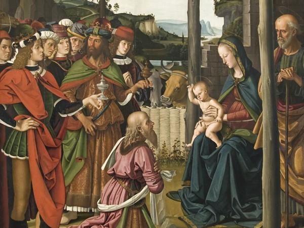 Pietro Vannucci detto Perugino, <em>Adorazione dei Magi</em>, Circa 1473, Olio su tavola, 180 x 242 cm, Perugia, Galleria Nazionale dell'Umbria