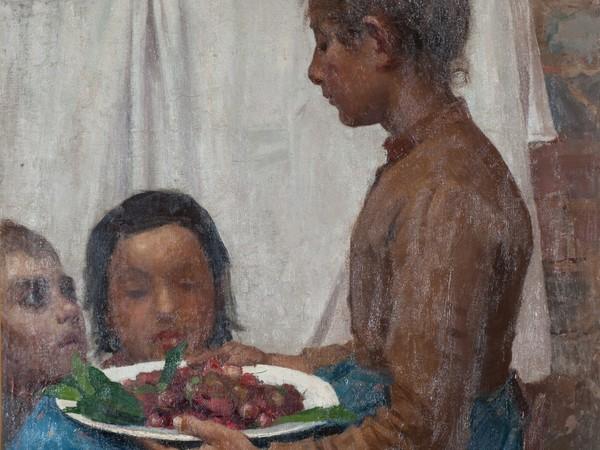 Giuseppe Pellizza da Volpedo, Le ciliegie 1888-1889, olio su tela cm 80 x 63,7