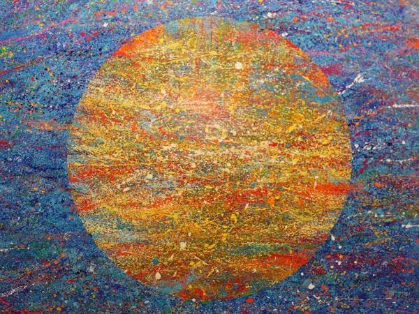Natino Chirico, Il mondo, 2017, cm. 200x200, acrilico su tela