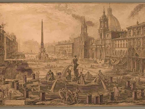 Giambattista Piranesi, Veduta di Piazza Navona sopra le rovine del circo agonale, matrice calcografica