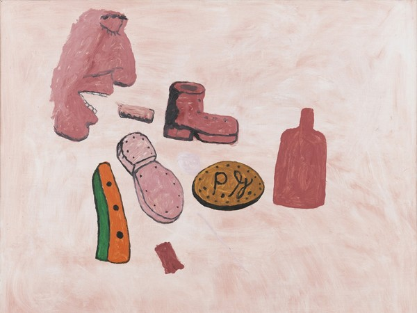 Philip Guston, Painter's Forms, 1972, Olio su pannello, 153.7 x 123.2 cm, Collezione privata | © The Estate of Philip Guston | Courtesy Hauser & Wirth