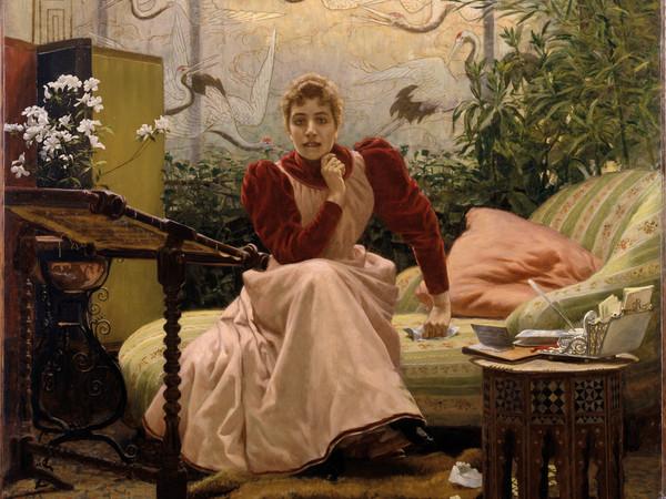 Carlo Stratta, Aracne 1893, olio su tela. Galleria Civica d'Arte Moderna e Contemporanea, Torino