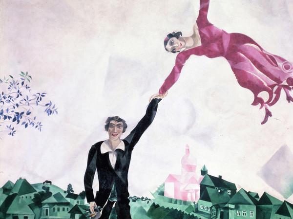 Marc Chagall, <em>La passeggiata</em>, 1917-18, San Pietroburgo, Museo Statale Russo | © Chagall ®, by SIAE 2019