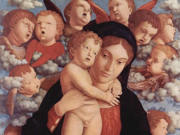 Andrea Mantegna, Madonna dei cherubini, 1485 circa, Tempera grassa su tavola, 70 x 88 cm, Pinacoteca di Brera, Milano