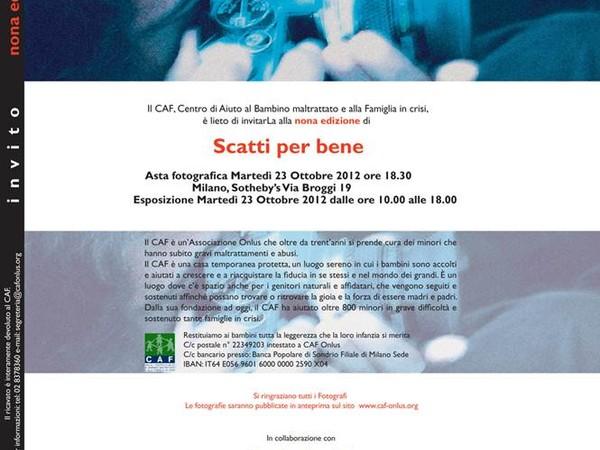 Scatti per Bene 2014, Casa d'aste Sotheby's - Palazzo Broggi, Milano