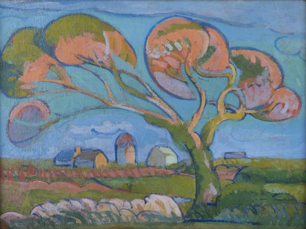 """Gino Rossi, Primavera in Bretagna, 1909 circa, olio su cartone applicato su tela, cm 28,5x37,6. Treviso, Museo Civico """"Luigi Bailo"""""""