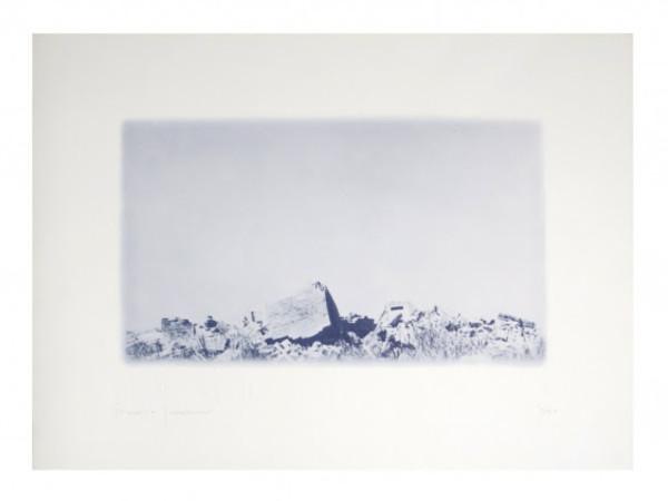 Franco Guerzoni, Archeologia, fotolito, cm. 70x100