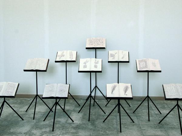 Ugo La Pietra, Libri Aperti, erbario, installazione, 2004-2008