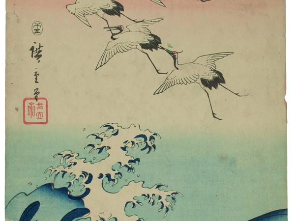 Utagawa Hiroshige, Gru in volo sulle onde