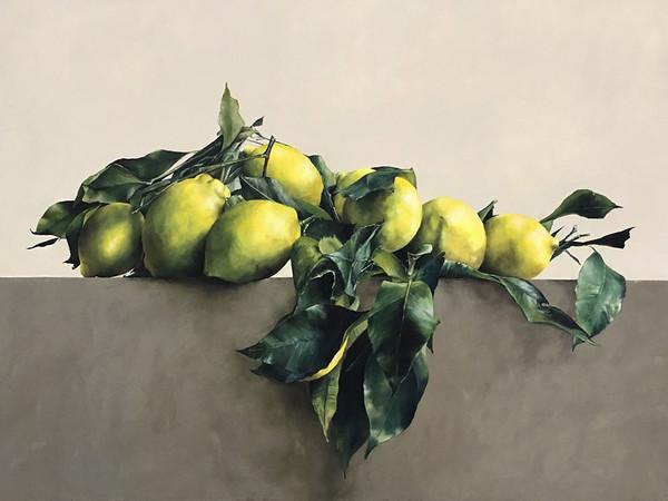 Costanza Alvarez de Castro, Positano, 2017, olio su tela, cm. 138x250