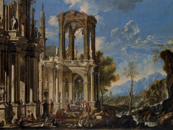 Francesco Aviani,Paesaggio con Lazzaro e il RiccoEpulone,1714 circa, Olio su tela, 134.5 x 91 cm, Musei Civici di Vicenza,Palazzo Chiericati