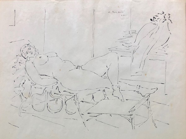 Orfeo Tamburi, Pomponia matrona romana, 1947, Inchiostro su carta, 48 x 37 cm, Collezione privata