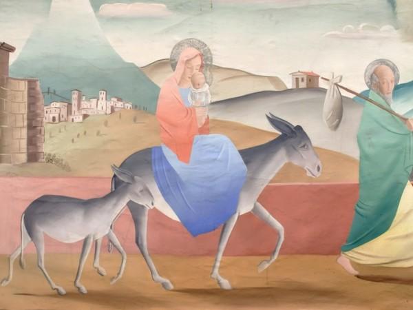 Pál C. Molnár, Fuga in Egitto, 1934, olio su tela, inv. AM 1140, Roma, MACRO