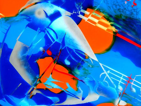 Alessandro Brentel, Silenzio, 2010, smalto e acrilico su plexiglass 65x75 cm.