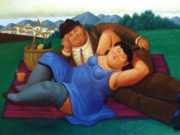 Fernando Botero, <em>Picnic</em>, 2001, Olio su tela, 165 x 113 cm | Courtesy of Arthemisia