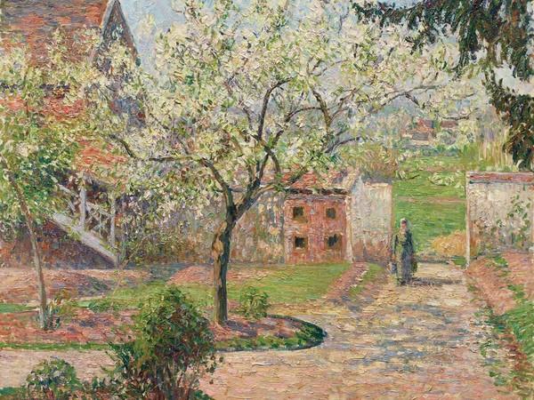 Camille Pissarro, Alberi di prugne in fiore, Éragny (La casa dell'artista), 1894. Olio su tela, 60x73 cm. Ordrupgaard, Copenhagen