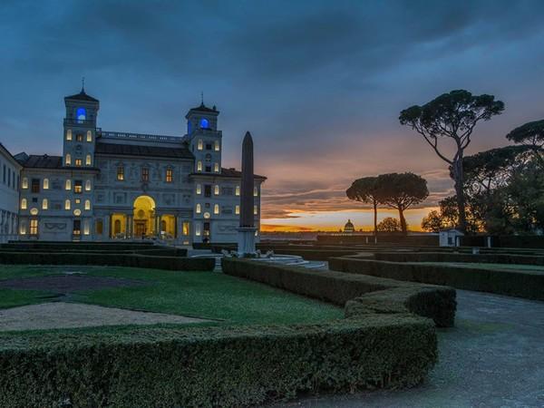 Accademia di Francia a Roma - Villa Medici, veduta al tramonto