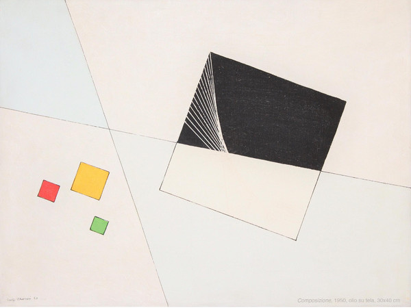 Luigi Veronesi, Composizione, 1950, olio su tela, cm. 30x40