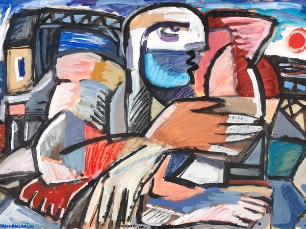 Dario Ballantini, Considero tutto, 2020, 70x100 cm., carta intelaiata