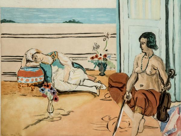 Henri Matisse, Odalisque sur la terrasse, 1922, Acquatinta su carta | Courtesy of Fondazione Magnani-Rocca 2020