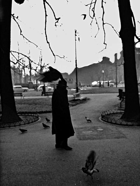 Ferdinando Scianna, L'uccello dei cattivi pensieri, Bergamo, 1966