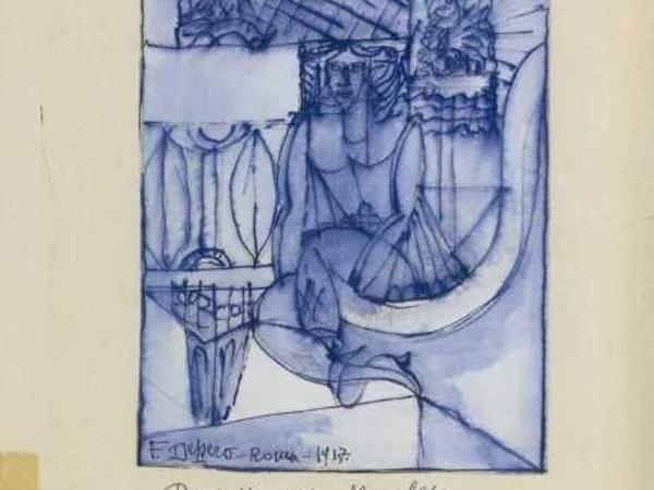 Fortunato Depero, La marchesa Casati, 1917