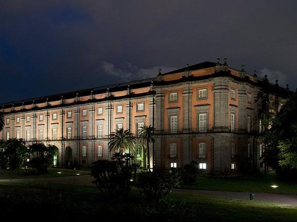 Il Museo di Capodimonte di notte. Courtesy Museo e Real Bosco di Capodimonte