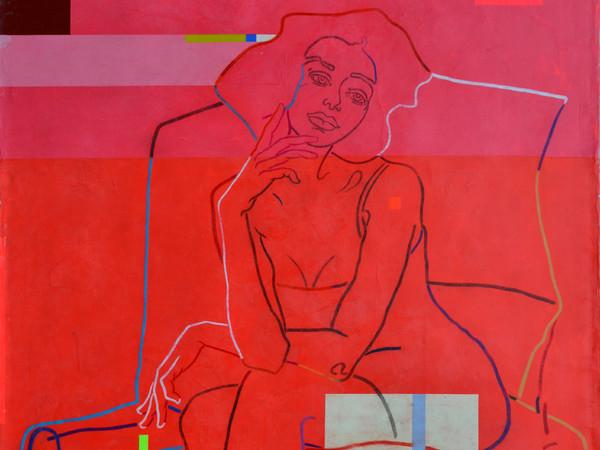 Giovanni Maranghi, <em>Ama solo me</em>, Encausto su tela, 150 x 220 cm | Courtesy of Fondazione Maimeri<br />