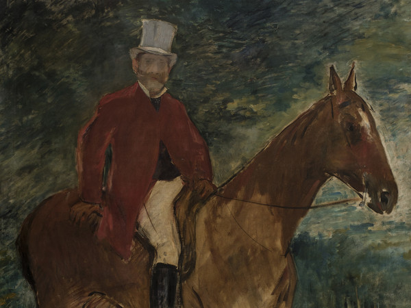 Edouard Manet, Il signor Arnaud a cavallo, 1875, Galleria d'Arte Moderna di Milano (particolare)