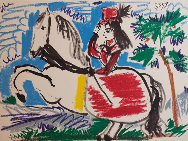 Pablo Picasso, <em>Toros y Toreros</em>, 1961 43 litografie a colori e in bianco e nero, 277 x 380 mm. Parigi, edizione <em>Aux Cercle d&rsquo;Art Editions.&nbsp;</em>Tiratura: 150 esemplari