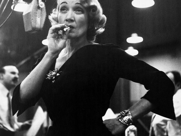 Marlene Dietrich at Columbia records studios, New York, USA, 1952