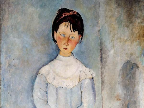 Amedeo Modigliani (Livorno,1884 - Paris, 1920), <em>Fillette en bleu</em>, 1918, Olio su tela, 73x 116 cm, Collezione Jonas Netter