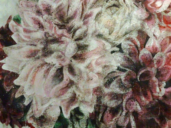 Egle Piaser, Ingrid, olio su tela, 2017, cm. 75x75