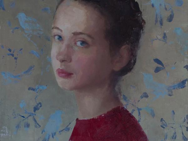 Sonia Cipollari, Il suo segreto, 30x30 cm., olio su tavola
