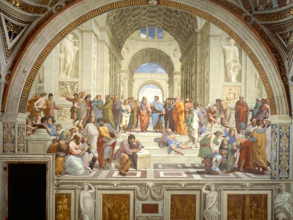 Raffaello Sanzio, La Scuola di Atene, 1509-1511, ca. 770×500 cm