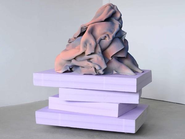 Vera Kox, Resting assured, 2020, insulation foam, ceramic, 67x80x64 cm.