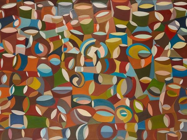 Domenico Gentile, Febbre del weekend, 1988, olio su tela, cm. 140x200