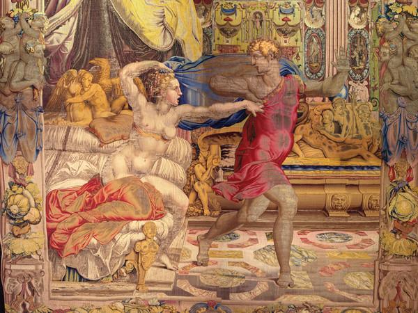 Giuseppe fugge dalla moglie di Putifarre, 1549. Disegno e cartone di Agnolo Bronzino. Atelier di Nicolas Karcher. Firenze, Soprintendenza Speciale PSAE e per il Polo Museale