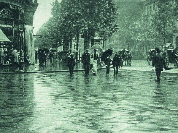 Alfred Stieglitz, Giorno di pioggia a Parigi, 1895, Photogravure, 16 x 9 cm, Parigi, Parigi, Musée d'Orsay