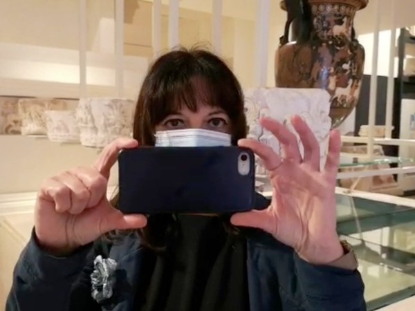 La direttrice del MArTA Eva Degl'Innocenti durante il suo video messaggio