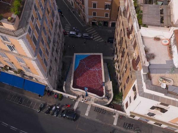 Opera di Andreco per Art Stop Monti, via Urbana, Roma
