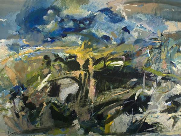 Raimondo Sirotti, Evento naturale, 1986, olio su tela. Genova, Collezione Simona Gabrielli