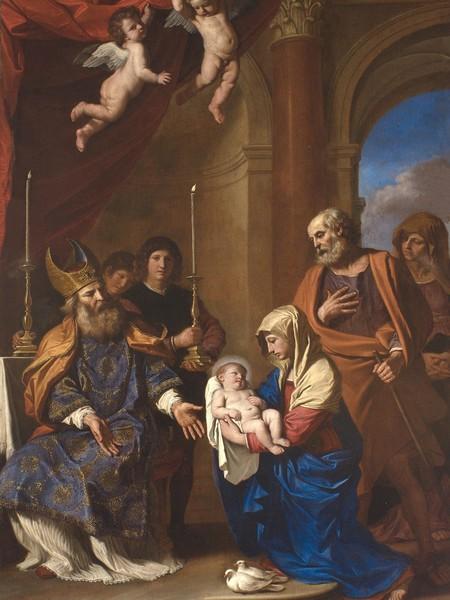 Giovan Francesco Barbieri detto il Guercino, La purificazione della Vergine, 1654, olio su tela, Ferrara, Santa Maria della Pietà