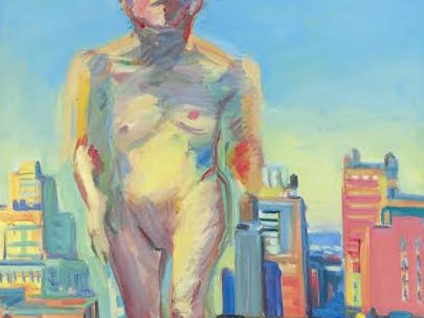 Maria Lassnig, Woman Power, 1979, olio su tela. Vienna, The Albertina Museum, The Essl Collection