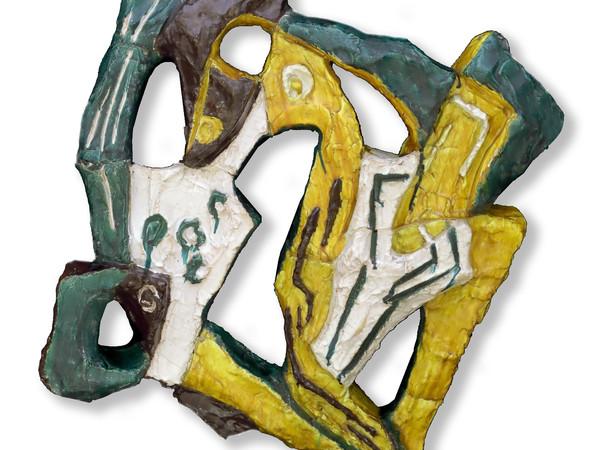 Leoncillo, Elemento di balaustra, 1952, terracotta policroma invetriata, cm. 80x80