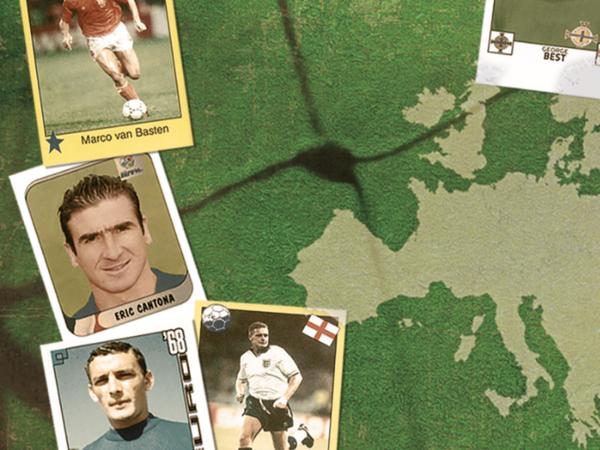 Figurine da album sui Campionati Europei di calcio 1972-96. Collezione Gianni Bellini
