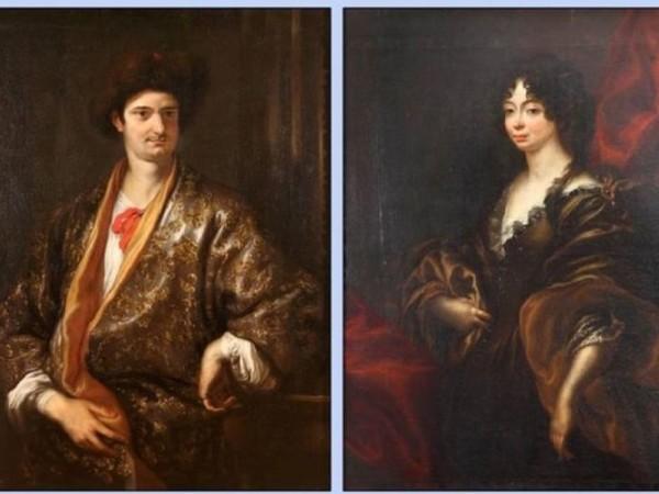 Domenico Piola, Ritratti di Anna Maria Pallavicino e Gerolamo Doria