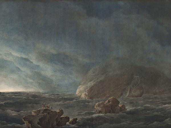 Giuseppe Pietro Bagetti,Tempesta con nubifragio,1805-1820.Acquarello su cartoncino. Torino,Galleria Sabauda<br />